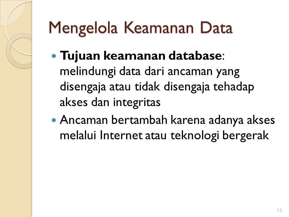 Mengelola Keamanan Data