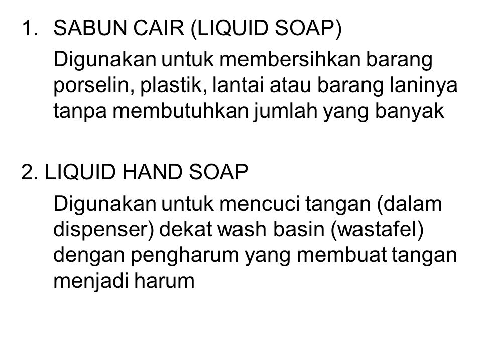 SABUN CAIR (LIQUID SOAP)