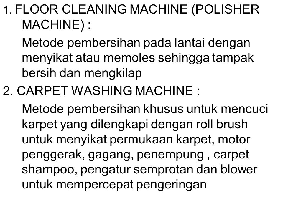 2. CARPET WASHING MACHINE :