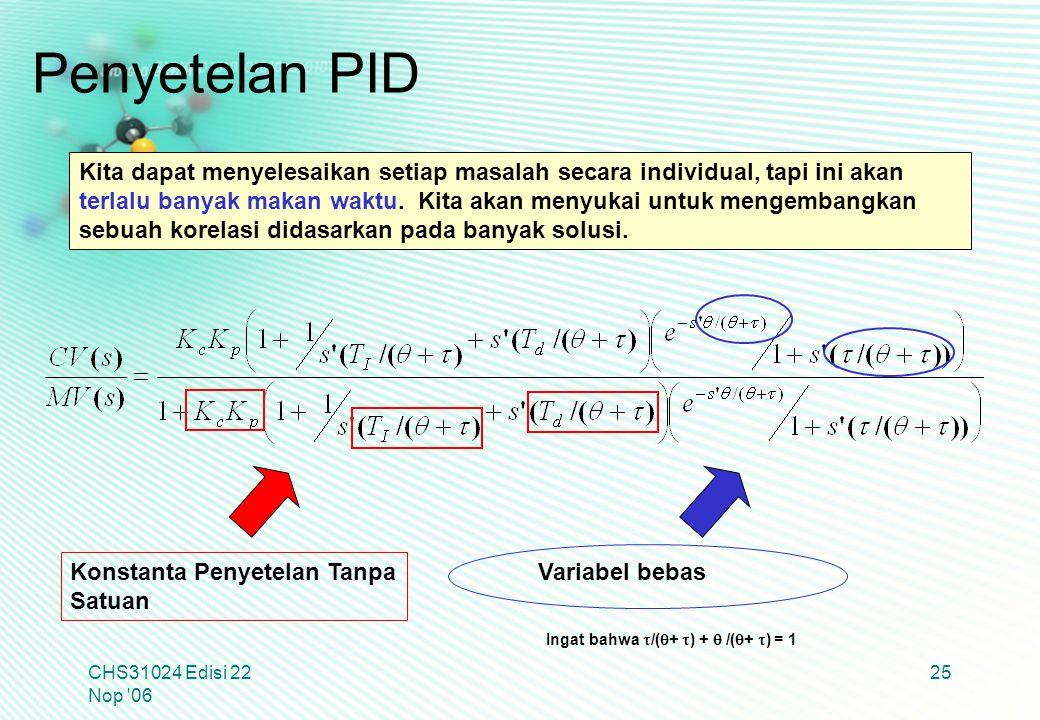 Penyetelan PID