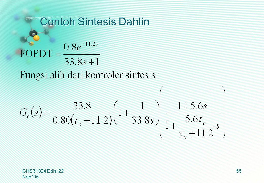 Contoh Sintesis Dahlin