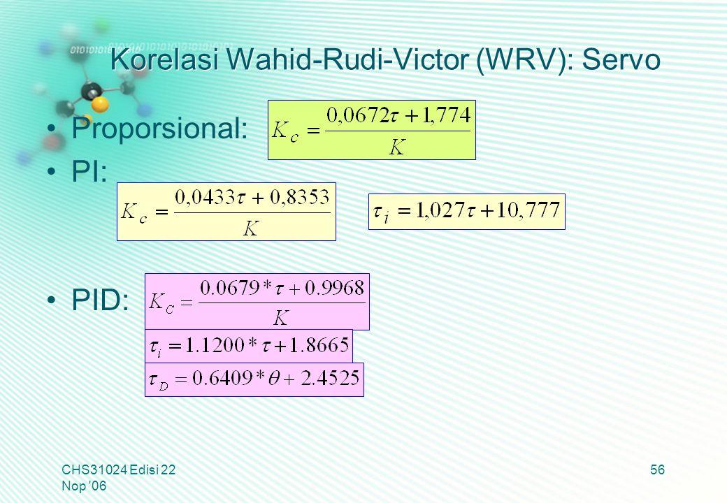 Korelasi Wahid-Rudi-Victor (WRV): Servo