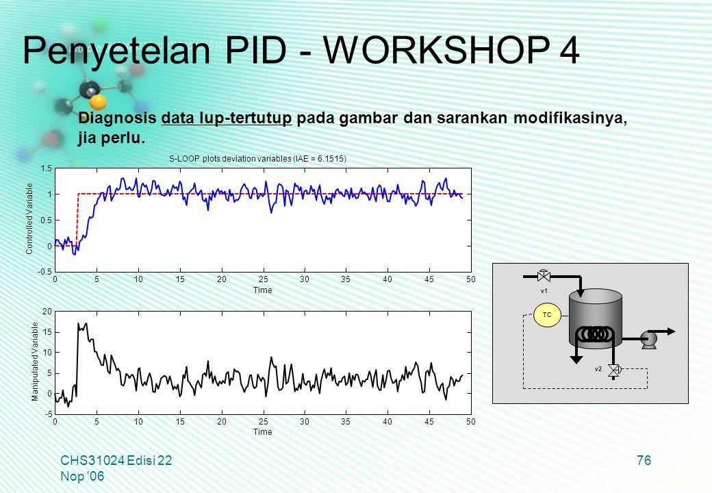 Penyetelan PID - WORKSHOP 4