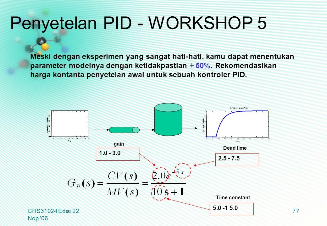 Penyetelan PID - WORKSHOP 5