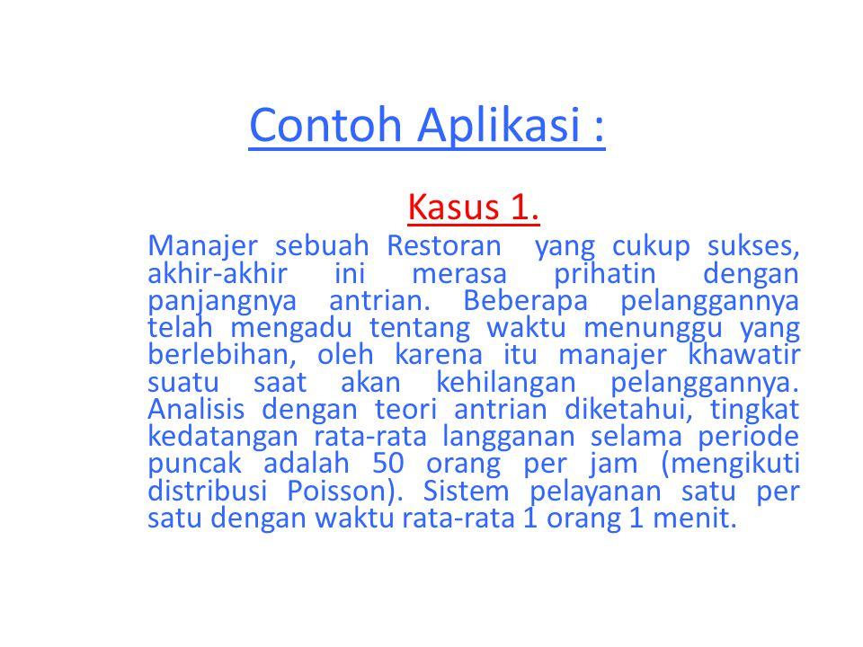 Contoh Aplikasi : Kasus 1.