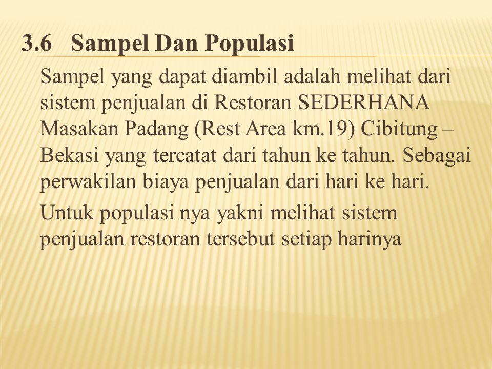 3.6 Sampel Dan Populasi