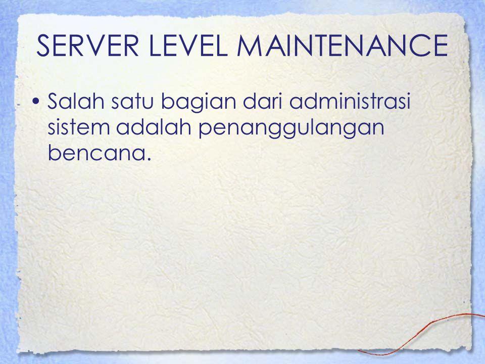SERVER LEVEL MAINTENANCE