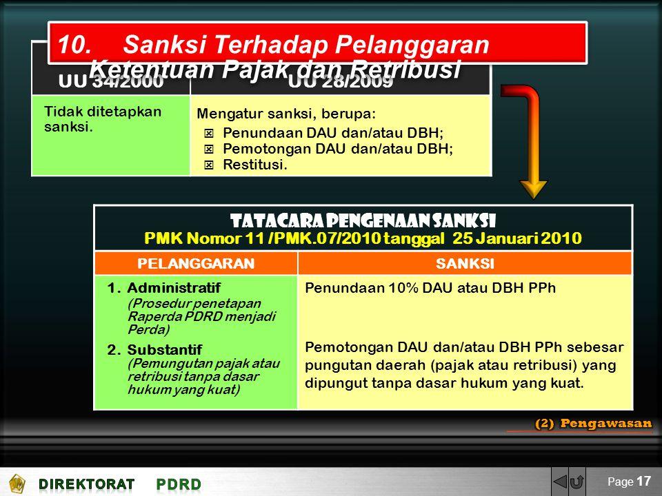 PMK Nomor 11 /PMK.07/2010 tanggal 25 Januari 2010