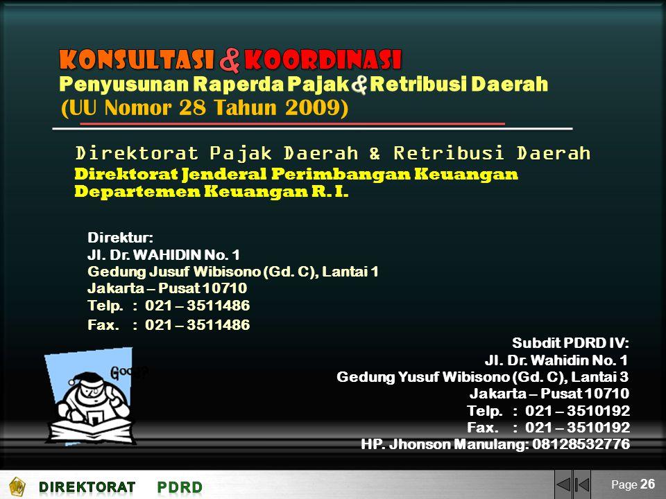 & Konsultasi Koordinasi & (UU Nomor 28 Tahun 2009)