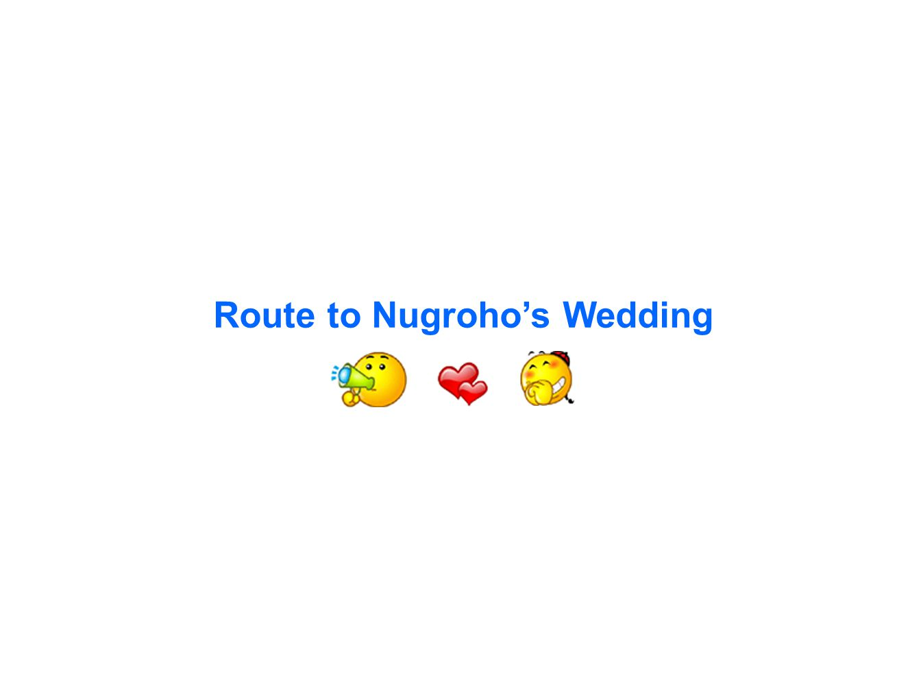 Route to Nugroho's Wedding