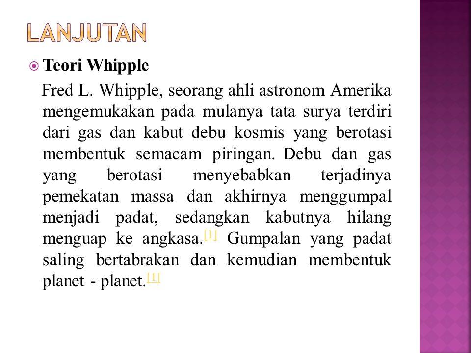 LANJUTAN Teori Whipple