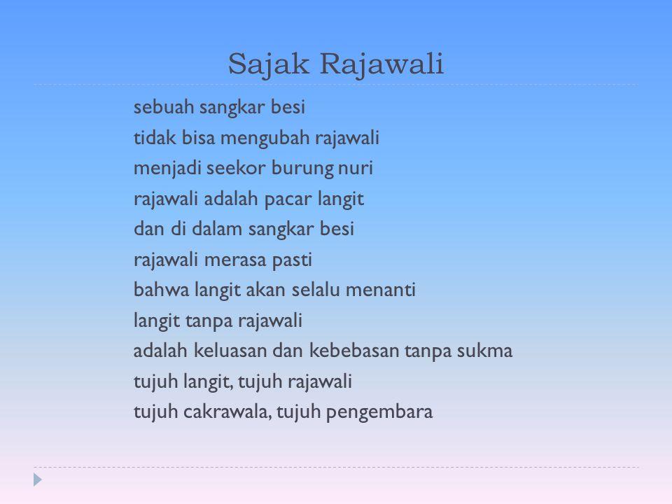 Kumpulan Puisi Ws Rendra  Sajak