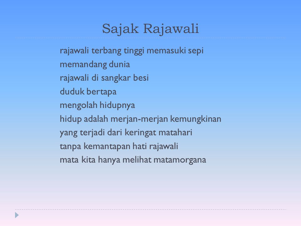 Sajak Rajawali