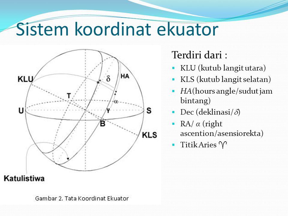 Sistem koordinat ekuator
