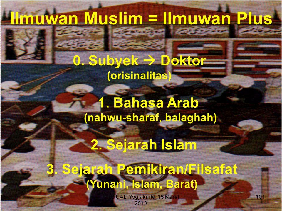 Ilmuwan Muslim = Ilmuwan Plus