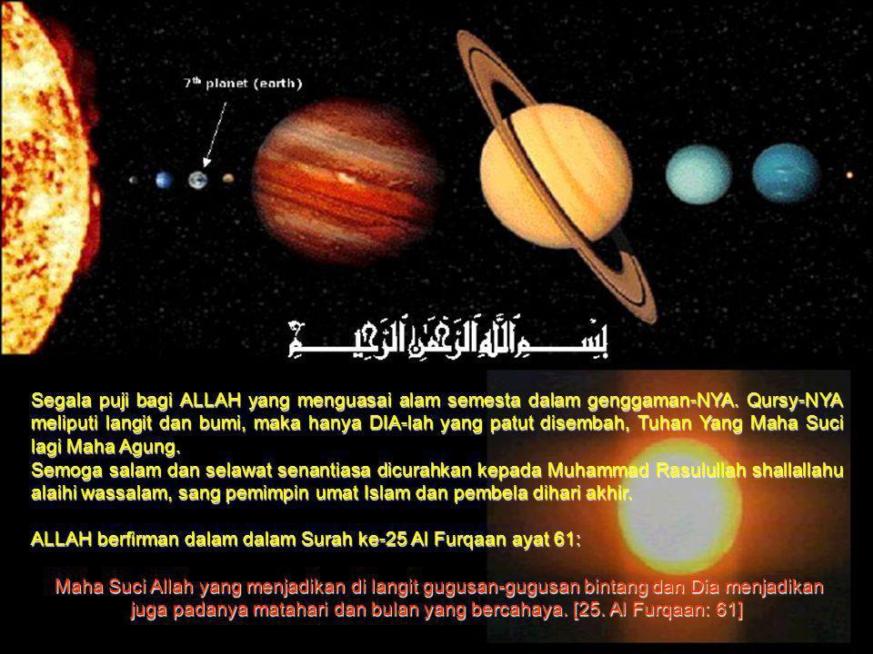 Segala puji bagi ALLAH yang menguasai alam semesta dalam genggaman-NYA