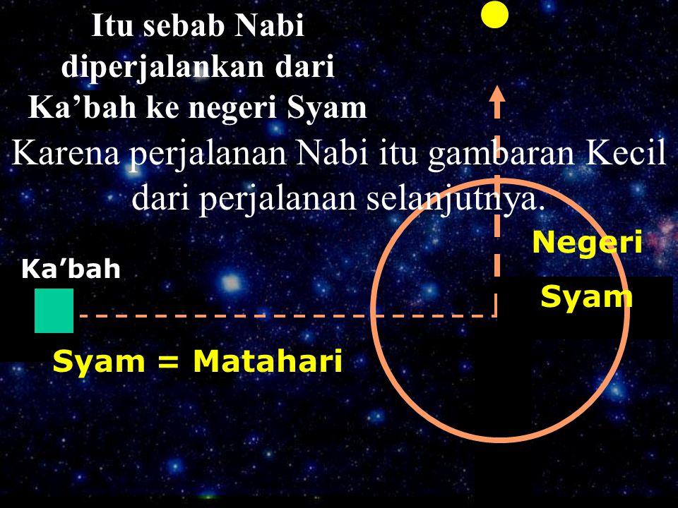 Itu sebab Nabi diperjalankan dari Ka'bah ke negeri Syam