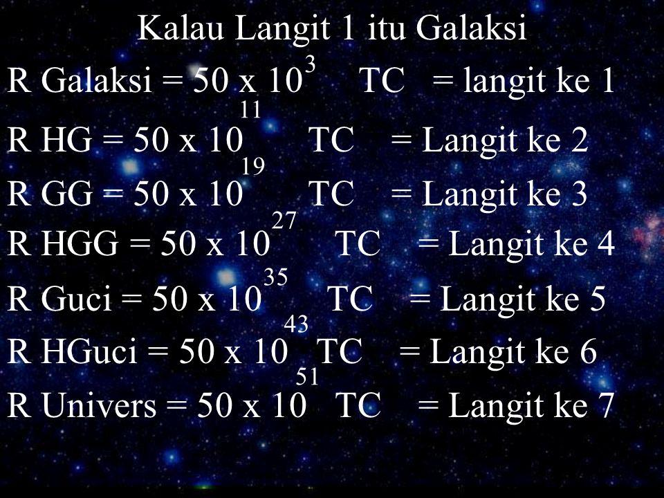 Kalau Langit 1 itu Galaksi