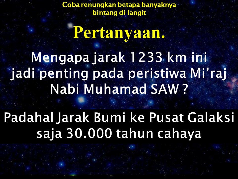 Pertanyaan. Mengapa jarak 1233 km ini