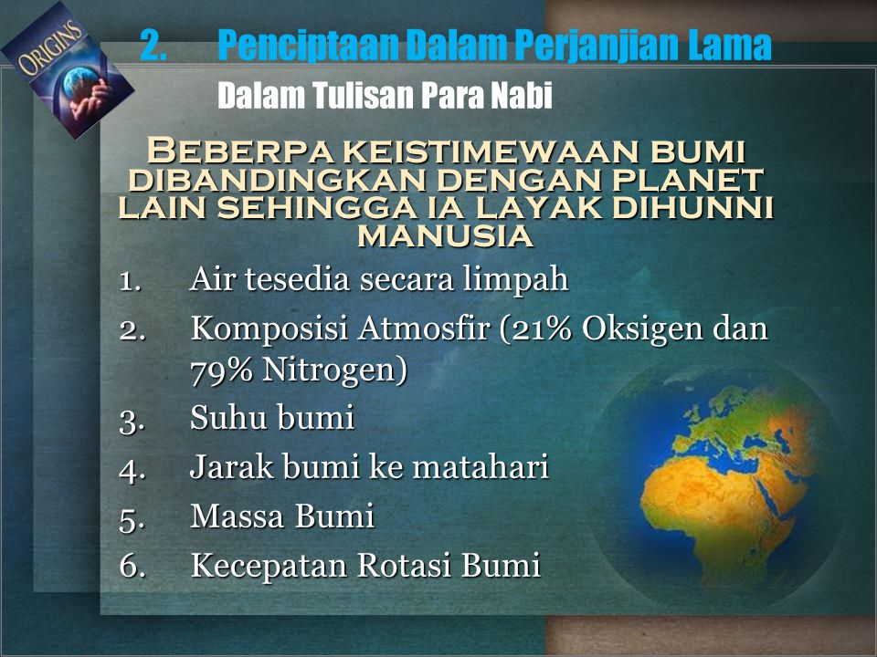 2. Penciptaan Dalam Perjanjian Lama Dalam Tulisan Para Nabi