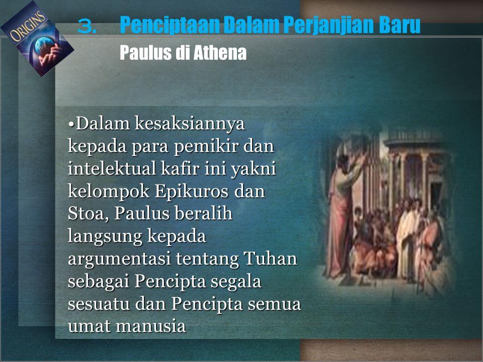 3. Penciptaan Dalam Perjanjian Baru Paulus di Athena