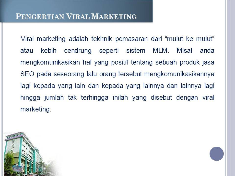 Pengertian Viral Marketing