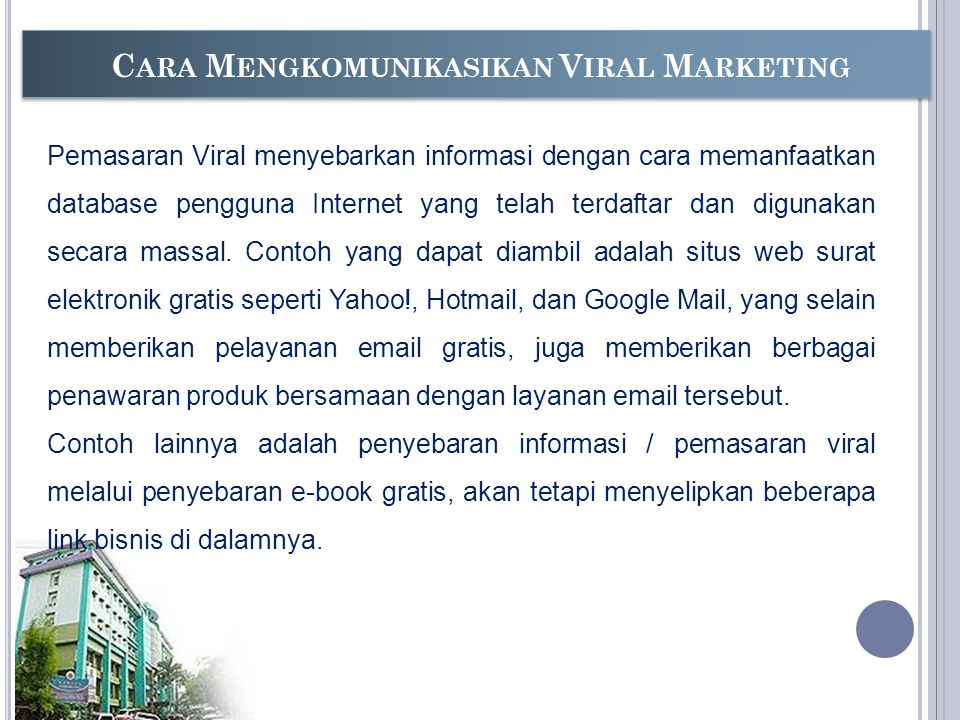 Cara Mengkomunikasikan Viral Marketing