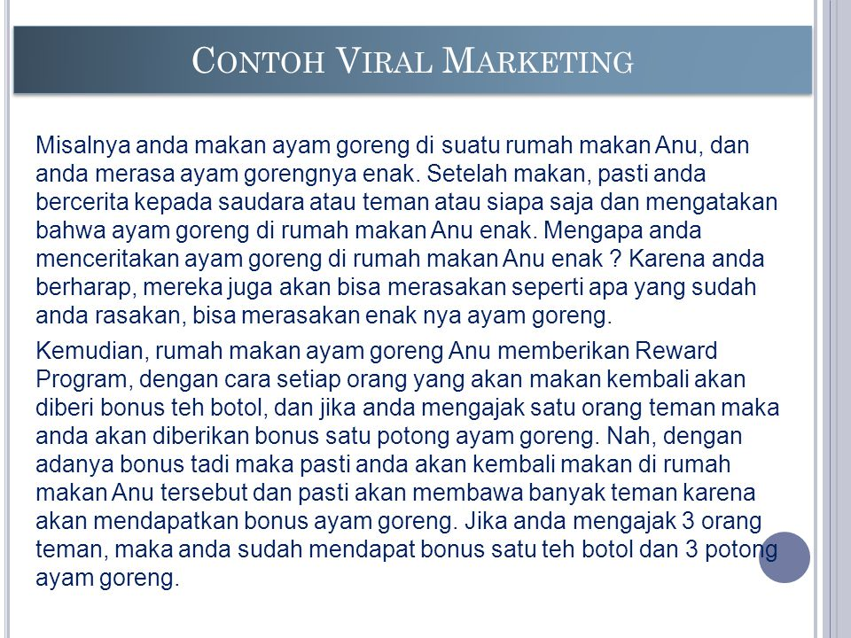 Contoh Viral Marketing