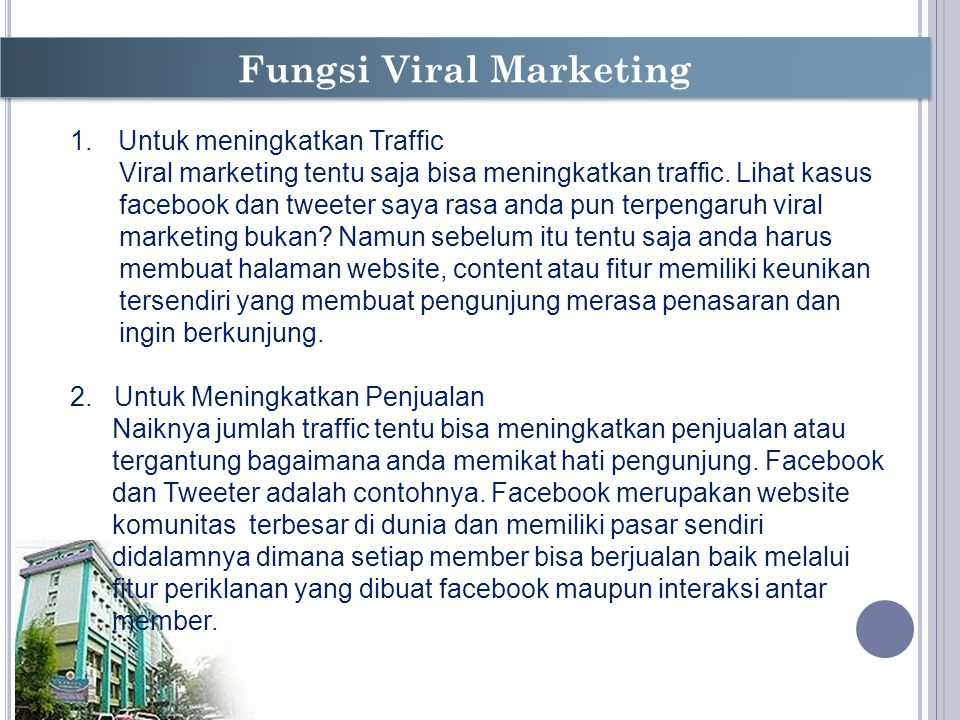 Fungsi Viral Marketing