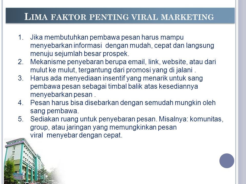 Lima faktor penting viral marketing