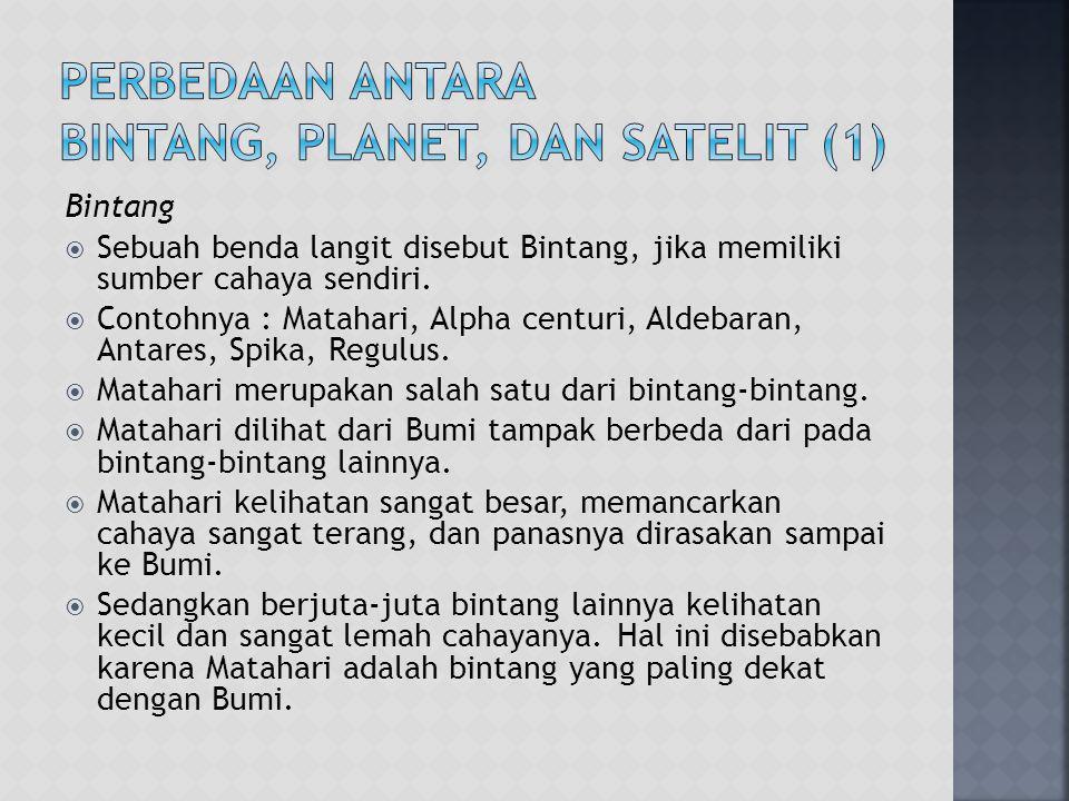 Perbedaan antara Bintang, Planet, dan Satelit (1)