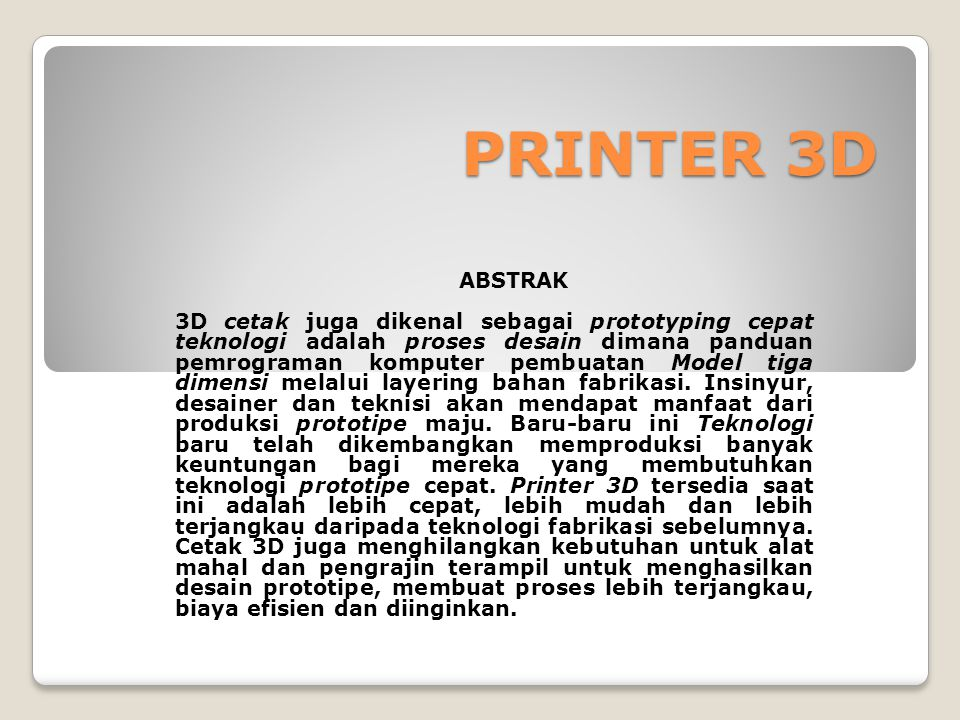 PRINTER 3D ABSTRAK.