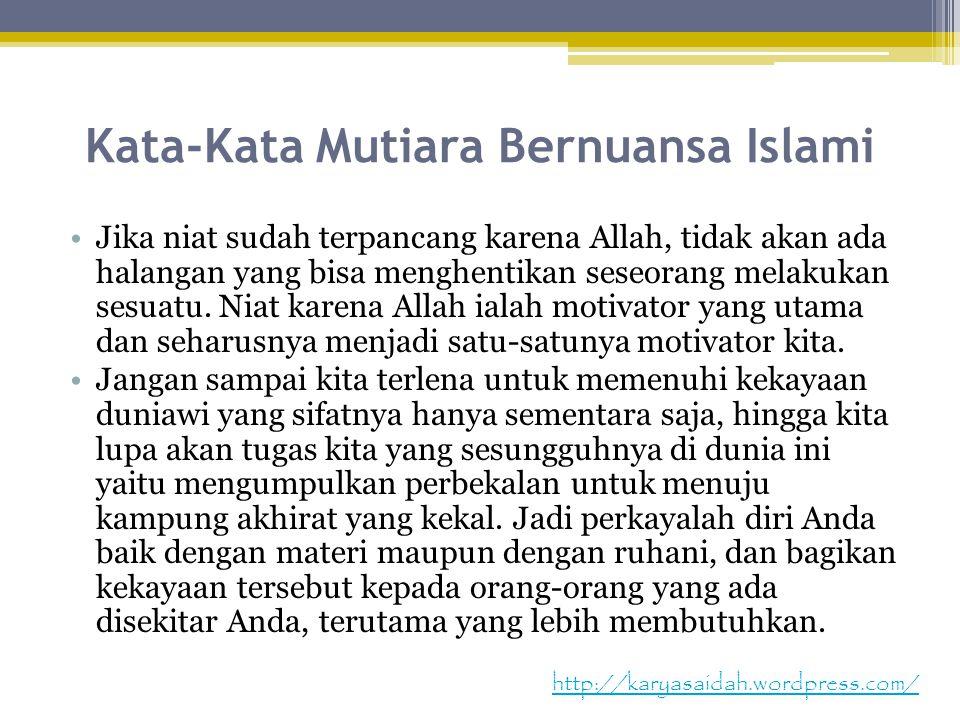 Kata-Kata Mutiara Bernuansa Islami