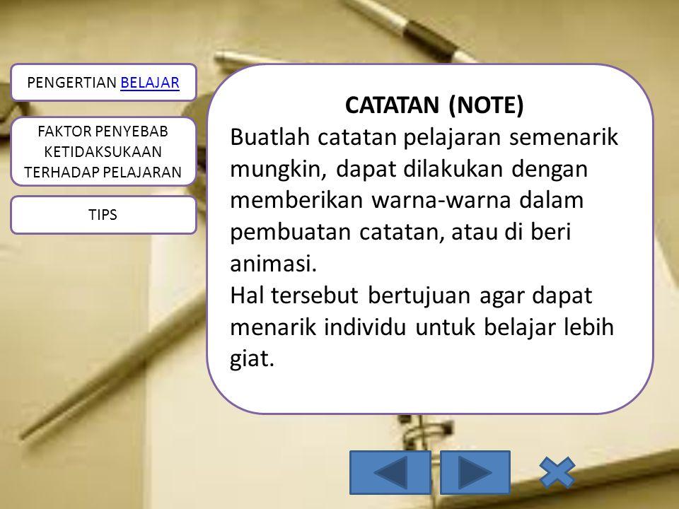 CATATAN (NOTE)