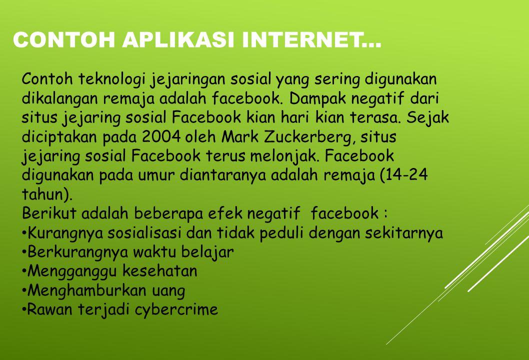 Contoh aplikasi internet...