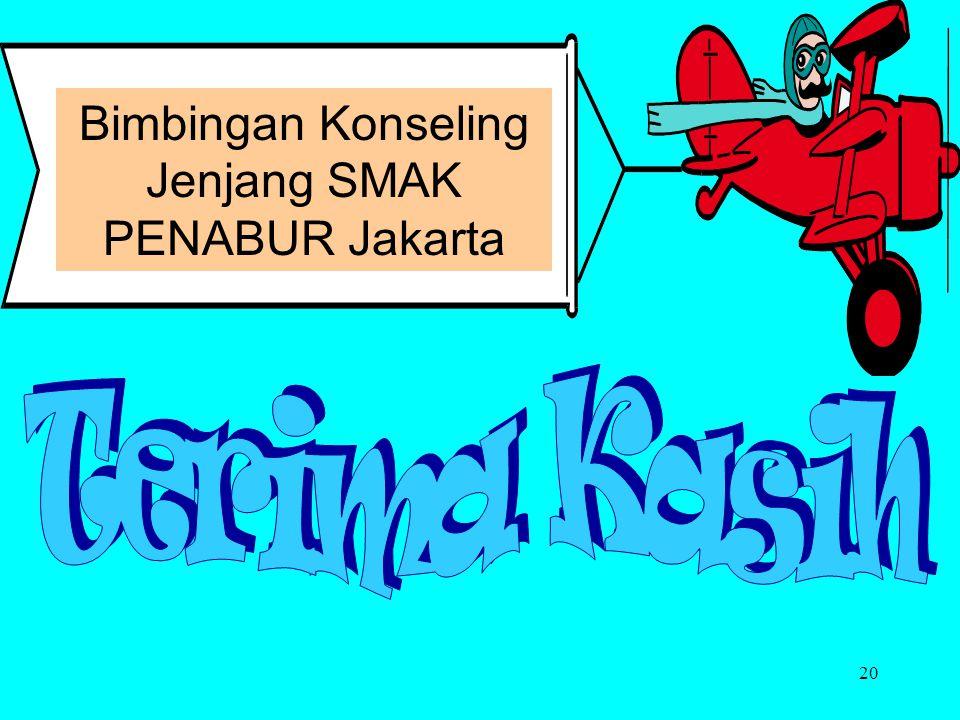 Bimbingan Konseling Jenjang SMAK PENABUR Jakarta Terima Kasih