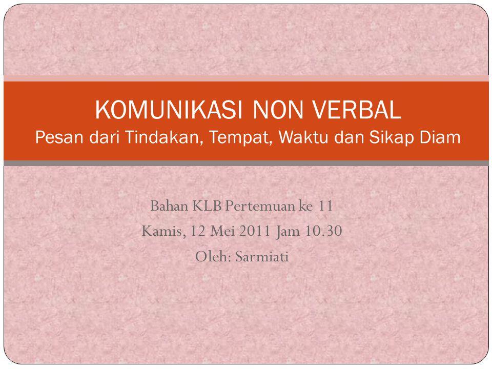 Bahan KLB Pertemuan ke 11 Kamis, 12 Mei 2011 Jam 10.30 Oleh: Sarmiati