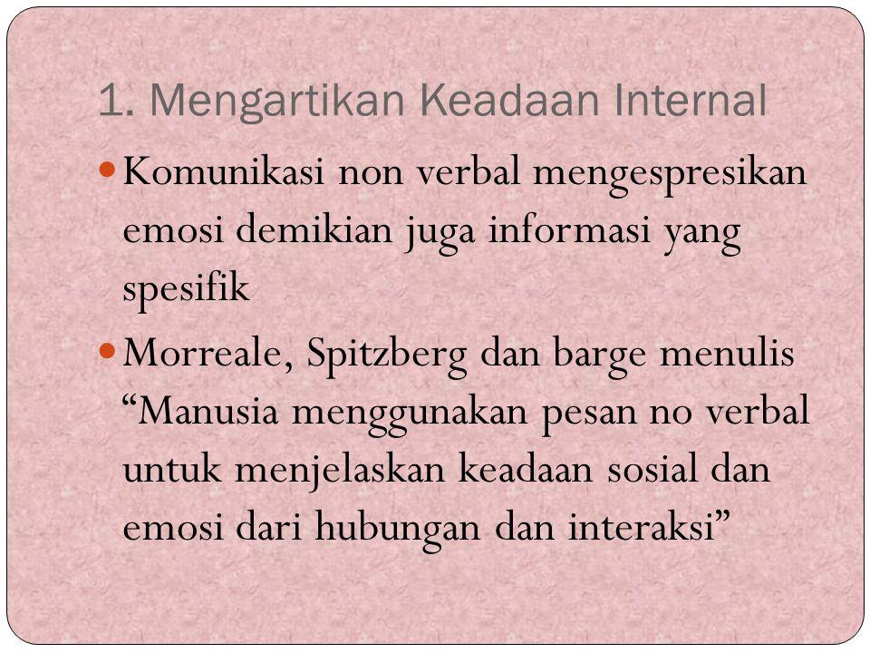 1. Mengartikan Keadaan Internal