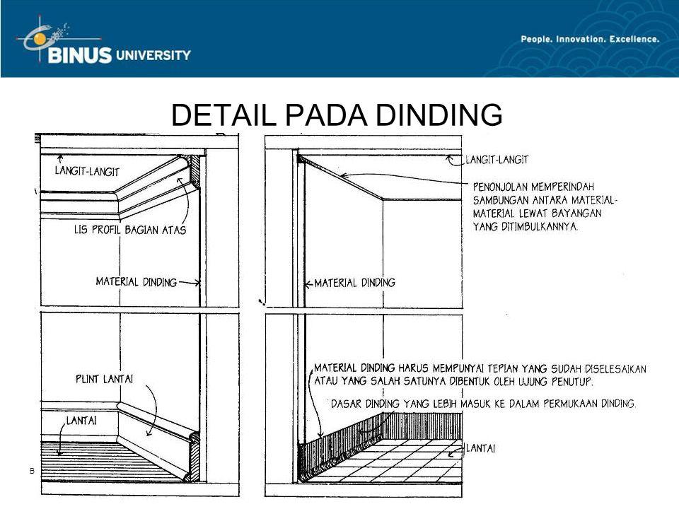 DETAIL PADA DINDING Bina Nusantara University