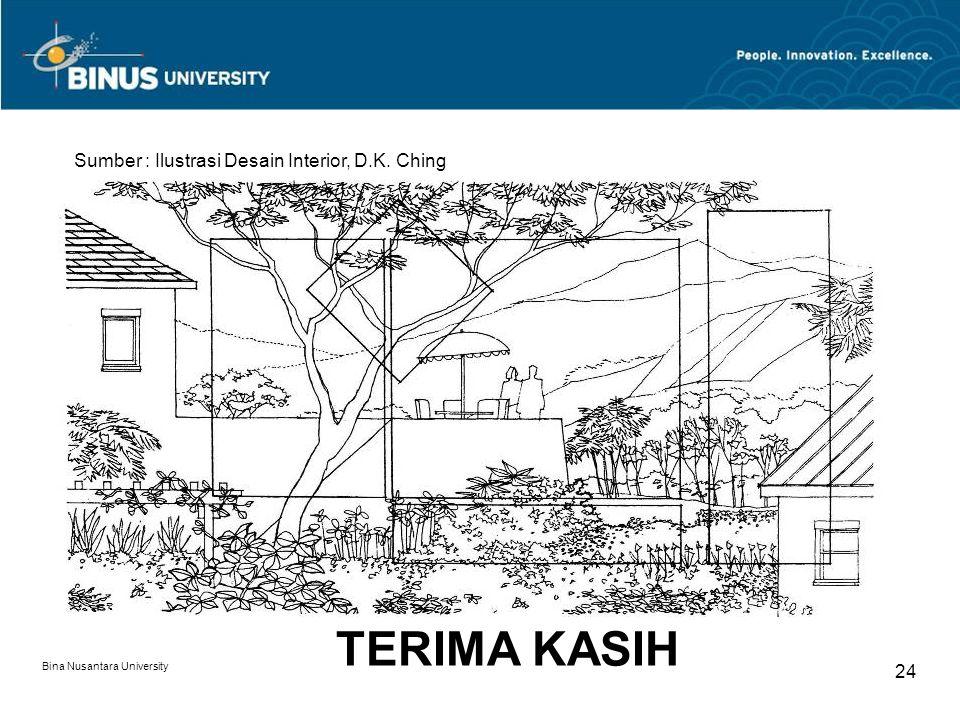 TERIMA KASIH Sumber : Ilustrasi Desain Interior, D.K. Ching