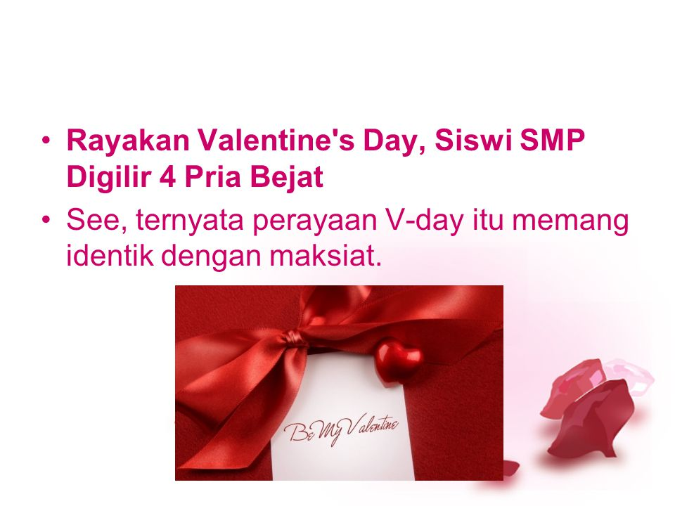 Rayakan Valentine s Day, Siswi SMP Digilir 4 Pria Bejat