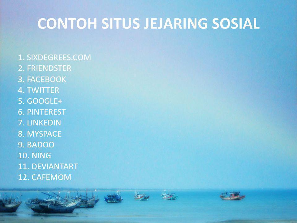 CONTOH SITUS JEJARING SOSIAL