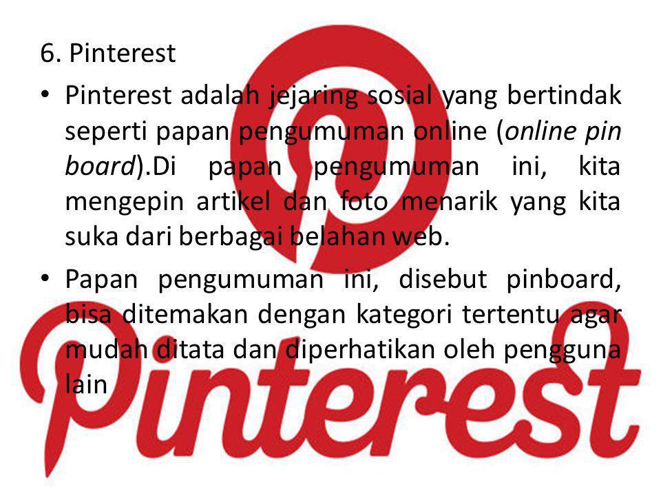 6. Pinterest