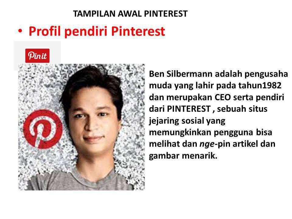 Profil pendiri Pinterest