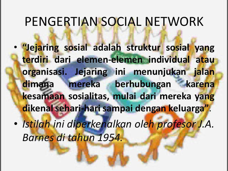 PENGERTIAN SOCIAL NETWORK