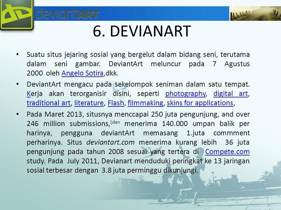 6. DEVIANART