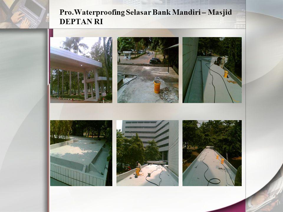 Pro.Waterproofing Selasar Bank Mandiri – Masjid DEPTAN RI