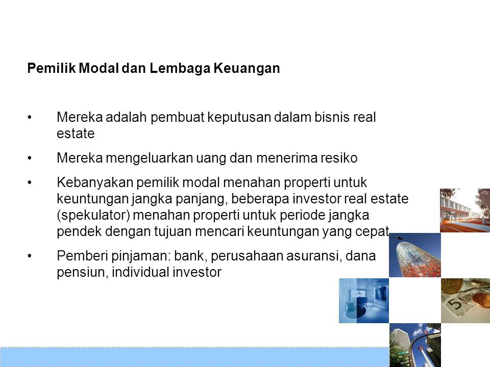 Pemilik Modal dan Lembaga Keuangan