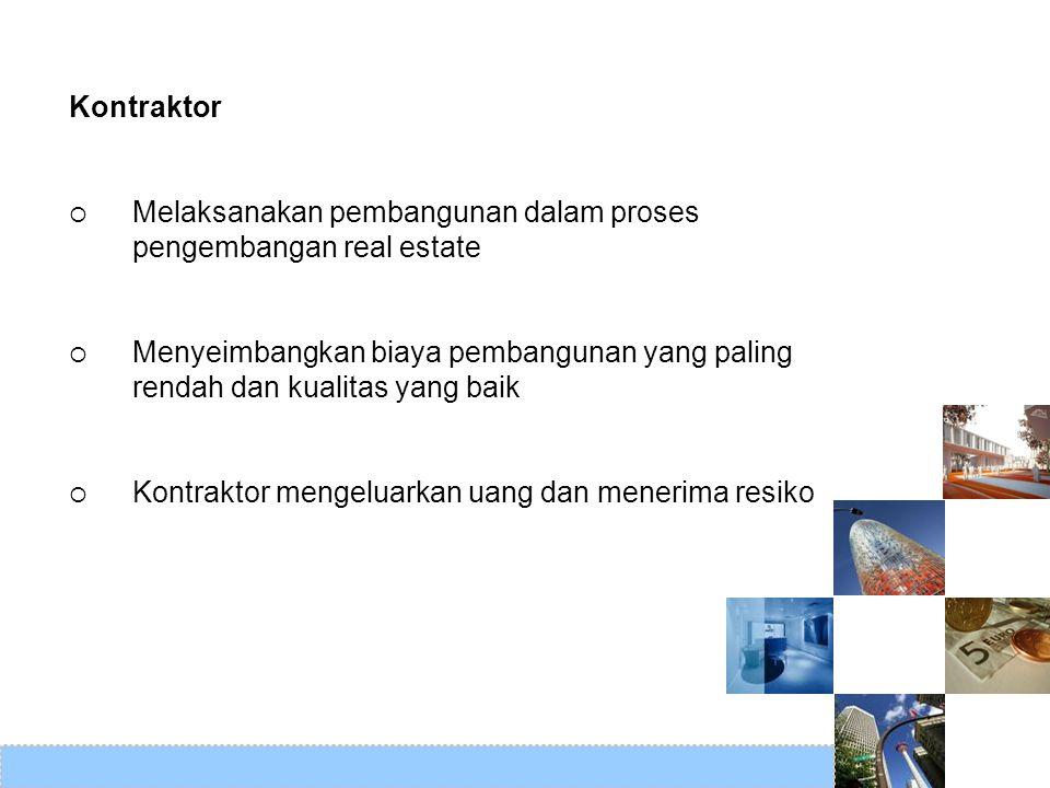 Kontraktor Melaksanakan pembangunan dalam proses pengembangan real estate.