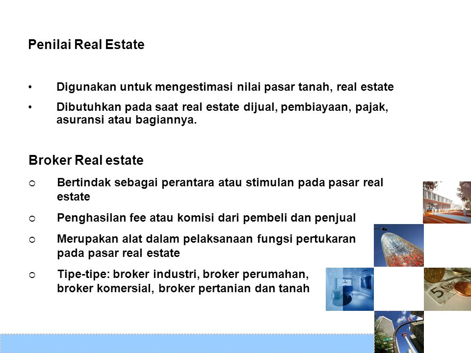 Penilai Real Estate Broker Real estate